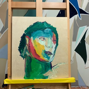 (CreativeWork) Neo-neo-classical head by Anna Constantine. oil-painting. Shop online at Bluethumb.