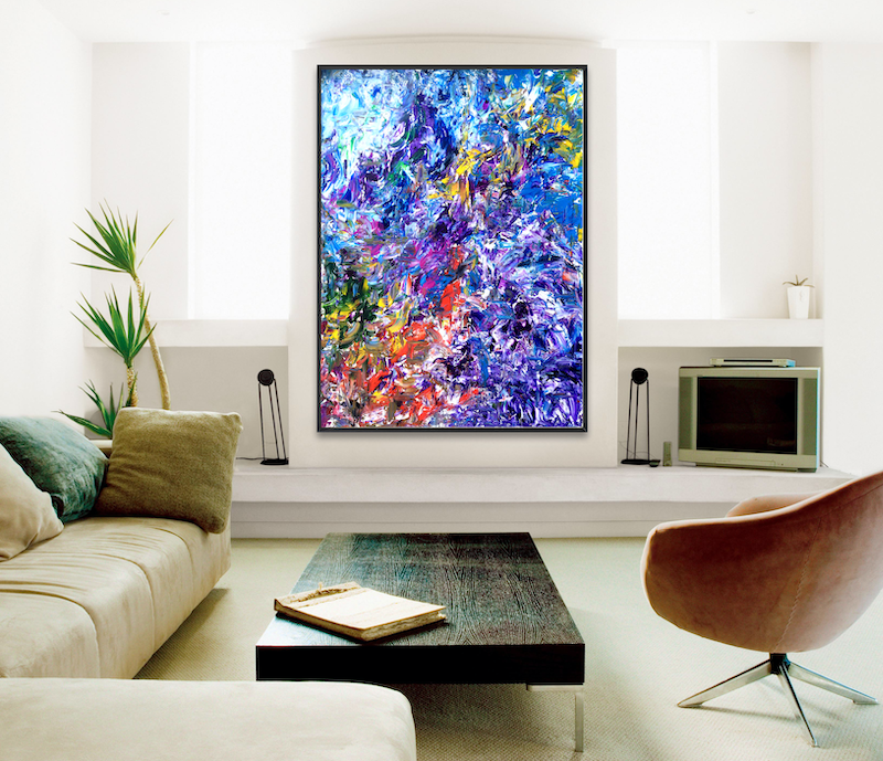 (CreativeWork) Personal Semiology by Estelle Asmodelle. arcylic-painting. Shop online at Bluethumb.