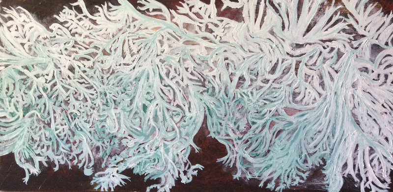 (CreativeWork) Lichen by Toni Southwell. Acrylic Paint. Shop online at Bluethumb.
