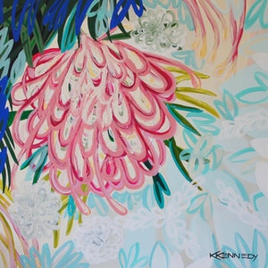 (CreativeWork) Bloom by Kate Kennedy. arcylic-painting. Shop online at Bluethumb.