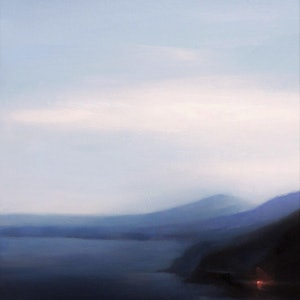 (CreativeWork) Distant Light by Michael Simms. oil-painting. Shop online at Bluethumb.