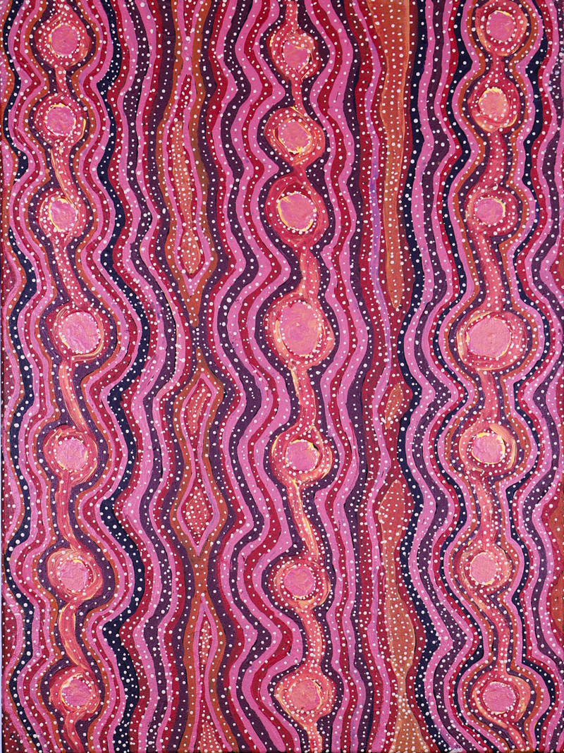 (CreativeWork) Mungari (Bush Tucker), 577-18 by Helen Nagomara. arcylic-painting. Shop online at Bluethumb.