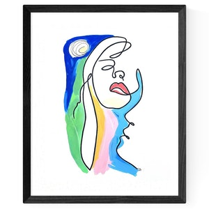 (CreativeWork) 'Midnight Passion' by Chris Cox. arcylic-painting. Shop online at Bluethumb.
