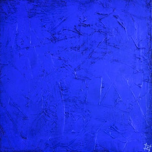 (CreativeWork) OBJECT 003 - BLUE by Jonathon Telcher. arcylic-painting. Shop online at Bluethumb.