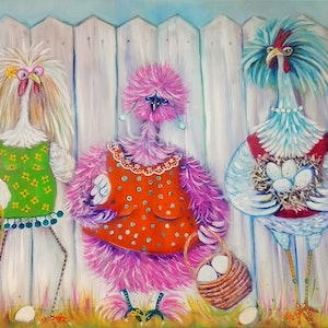 (CreativeWork) Don't Fence us in. by Joanne Scriha. oil-painting. Shop online at Bluethumb.