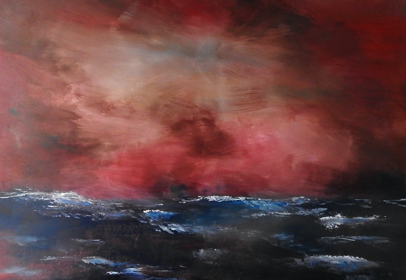 (CreativeWork) The Storm by Julie Hollis. arcylic-painting. Shop online at Bluethumb.