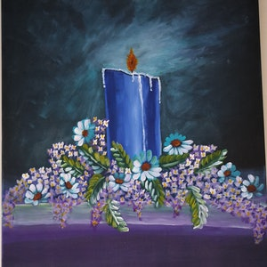 (CreativeWork) Candle light by kanisha patel. arcylic-painting. Shop online at Bluethumb.