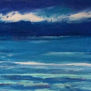 (CreativeWork) Tranquility by Terina Jones. arcylic-painting. Shop online at Bluethumb.