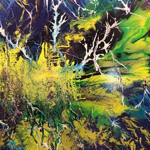 (CreativeWork) HIDDEN FOREST by Donna Parker. arcylic-painting. Shop online at Bluethumb.