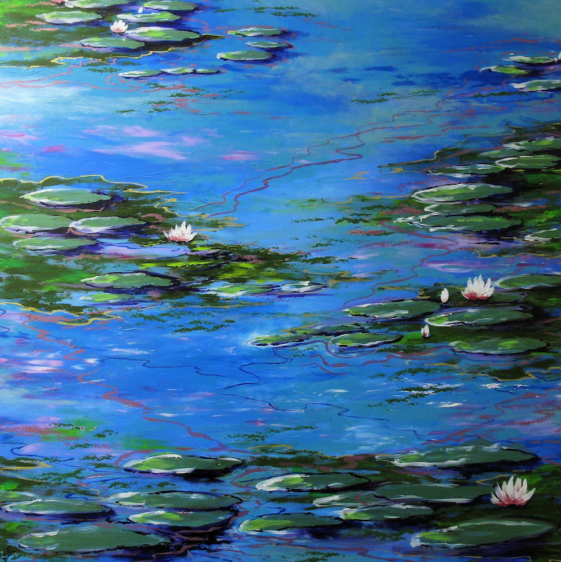 (CreativeWork) Monet Inspiration 3 by Sally Ford. arcylic-painting. Shop online at Bluethumb.