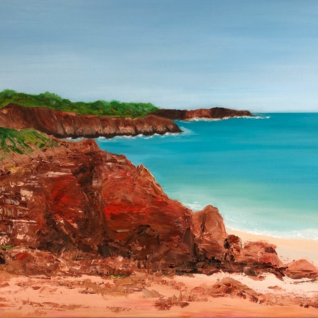 (CreativeWork) Cape Leveque by Michele Dowe. Oil Paint. Shop online at Bluethumb.