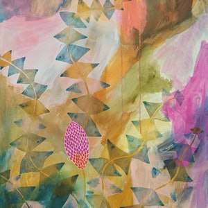 (CreativeWork) The lone Banksia by Marinka Parnham. arcylic-painting. Shop online at Bluethumb.