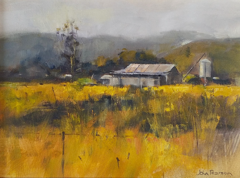 (CreativeWork) Going Up Country by John Pearson. oil-painting. Shop online at Bluethumb.