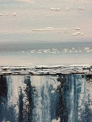 (CreativeWork) Arctic Bliss by Julie Dynan. Acrylic Paint. Shop online at Bluethumb.