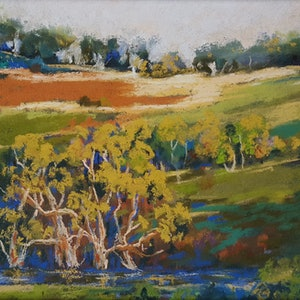 (CreativeWork) Down To The Creek by Helen Miles. other-media. Shop online at Bluethumb.