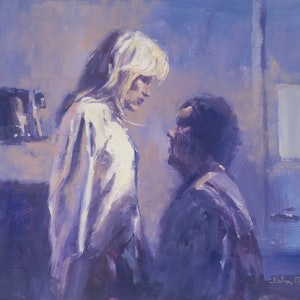 (CreativeWork) Forgiven by John Pearson. oil-painting. Shop online at Bluethumb.