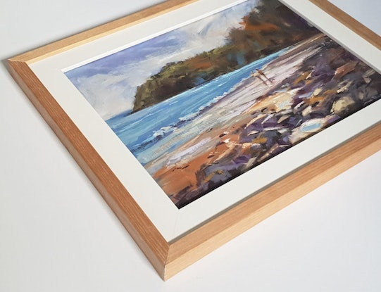 (CreativeWork) Morning Surf - Noosa by John Pearson. Oil. Shop online at Bluethumb.