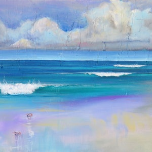(CreativeWork) Distant Storm by Kathy Bierma. arcylic-painting. Shop online at Bluethumb.