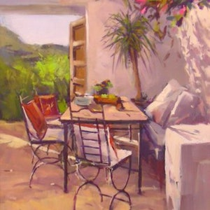 (CreativeWork) A Summer Place - THIS PAINTING HAS BEEN SOLD by John Pearson. oil-painting. Shop online at Bluethumb.