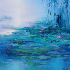 (CreativeWork) EARLY LIGHT (Framed) by Sandra Michele Knight. oil-painting. Shop online at Bluethumb.