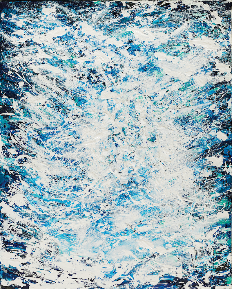 (CreativeWork) Tumultuous Seas by Annette Spinks. arcylic-painting. Shop online at Bluethumb.