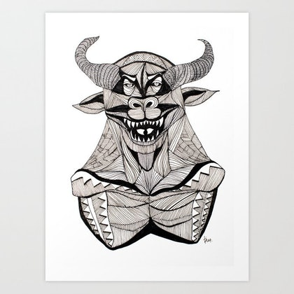 (CreativeWork) INSOMNIA SERIES: MONSTERS. II - original artwork by Irma Calabrese. drawing. Shop online at Bluethumb.