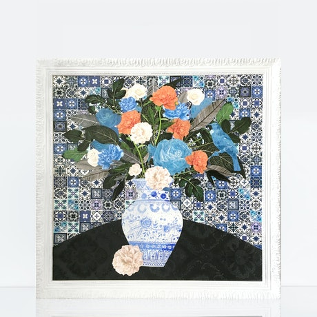 (CreativeWork) The farewell flowers by Jenn Bell. Mixed Media. Shop online at Bluethumb.