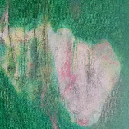 (CreativeWork) Song of the lotus  by Vanessa Whittington. Acrylic Paint. Shop online at Bluethumb.