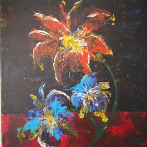 (CreativeWork) Flowers by kanisha patel. arcylic-painting. Shop online at Bluethumb.