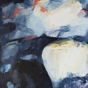 (CreativeWork) Fade Into Me by Rachel Prince. arcylic-painting. Shop online at Bluethumb.