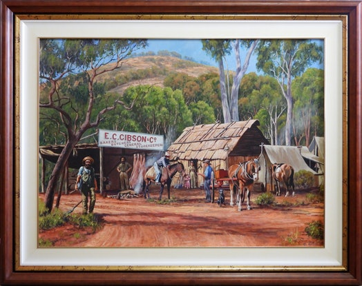 (CreativeWork) GIBSON'S STORE by Ron and Jennifer Marshall. Acrylic Paint. Shop online at Bluethumb.