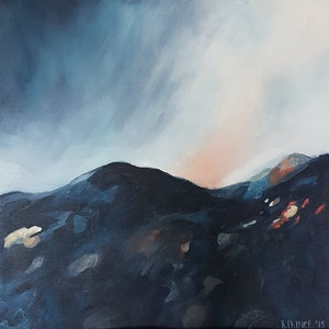 (CreativeWork) Breathing Space by Rachel Prince. arcylic-painting. Shop online at Bluethumb.