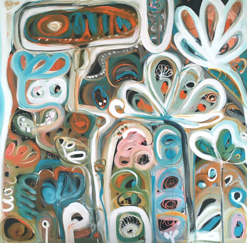 (CreativeWork) Garden of Life by Sarah Morrow. arcylic-painting. Shop online at Bluethumb.