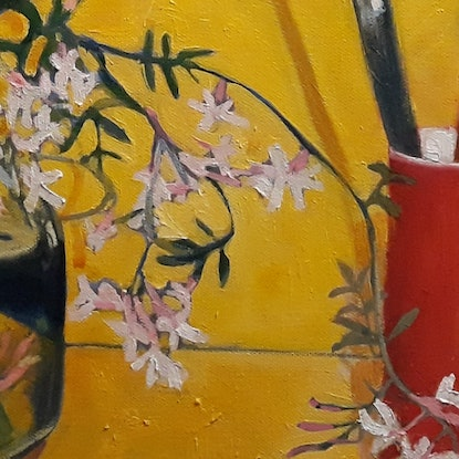 (CreativeWork) Paint it Yellow by Kathleen Agius. Oil Paint. Shop online at Bluethumb.