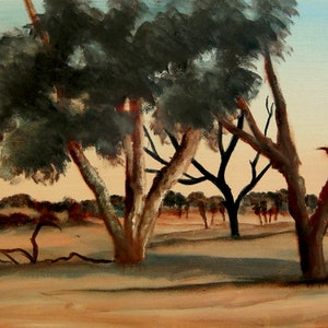 (CreativeWork) Desert Glow by Doodie Herman. arcylic-painting. Shop online at Bluethumb.