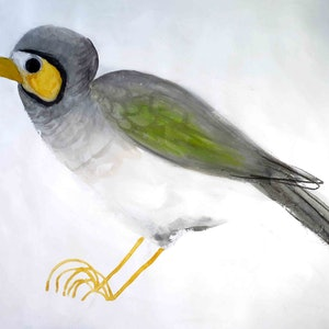 (CreativeWork) Noisy Miner  by John Graham. Mixed Media. Shop online at Bluethumb.