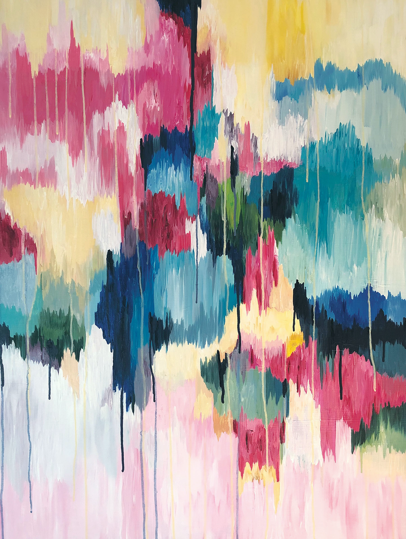 (CreativeWork) Sweetness and Light by Melanie Crawford. Acrylic Paint. Shop online at Bluethumb.