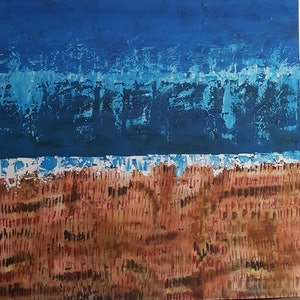 (CreativeWork) The Keys by Sheryl Anderson. arcylic-painting. Shop online at Bluethumb.