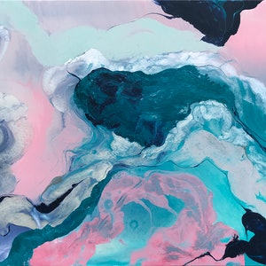 (CreativeWork) Sweet Surrender by Rachael Higby. arcylic-painting. Shop online at Bluethumb.