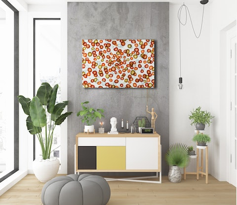 (CreativeWork) Vitae Colour Field VII - Original Abstract Painting about wine by Jacquelyn Stephens. Mixed Media. Shop online at Bluethumb.