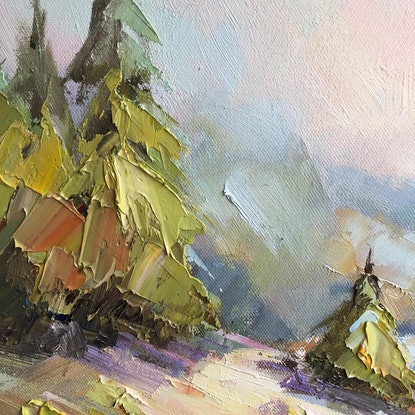 (CreativeWork) Queenstown garden by Liliana Gigovic. Oil Paint. Shop online at Bluethumb.