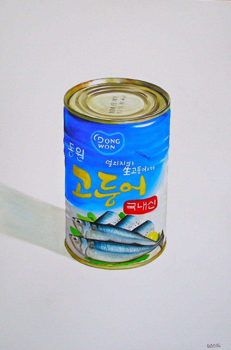 (CreativeWork) Blue Can by Warren Lane. Oil Paint. Shop online at Bluethumb.