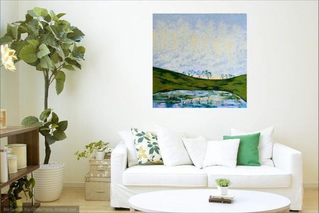 (CreativeWork) Morning Mists  by Judi Parkinson. Oil Paint. Shop online at Bluethumb.