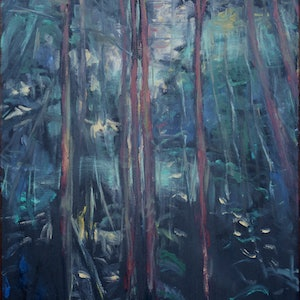 (CreativeWork) Happy Valley Rainforest Morning, Mount Wilson by Tim K Jones. oil-painting. Shop online at Bluethumb.