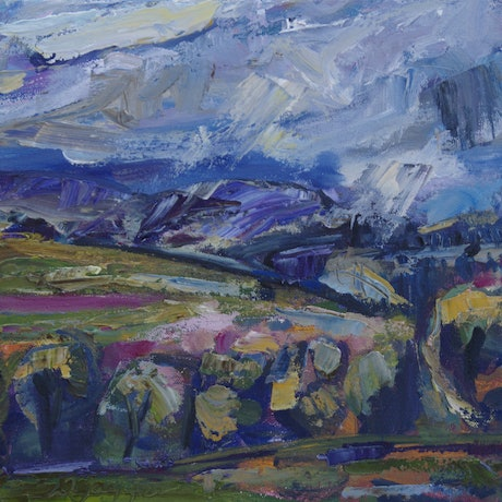 (CreativeWork) Rain Approaching by Wendy Jagger. Oil Paint. Shop online at Bluethumb.