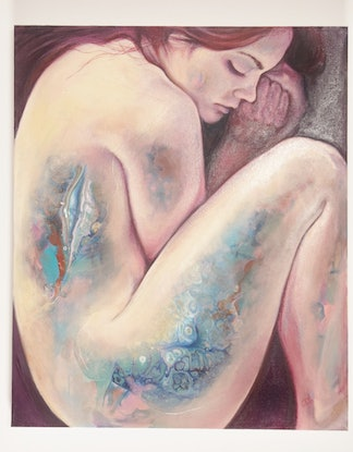 (CreativeWork) Surrender by Carli Wilson. Oil Paint. Shop online at Bluethumb.
