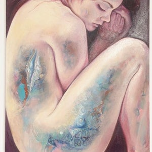 (CreativeWork) Surrender by Carli Wilson. oil-painting. Shop online at Bluethumb.