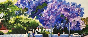 (CreativeWork) Jacaranda Walk (Commission Reserved for L) by Robyn Gray. arcylic-painting. Shop online at Bluethumb.