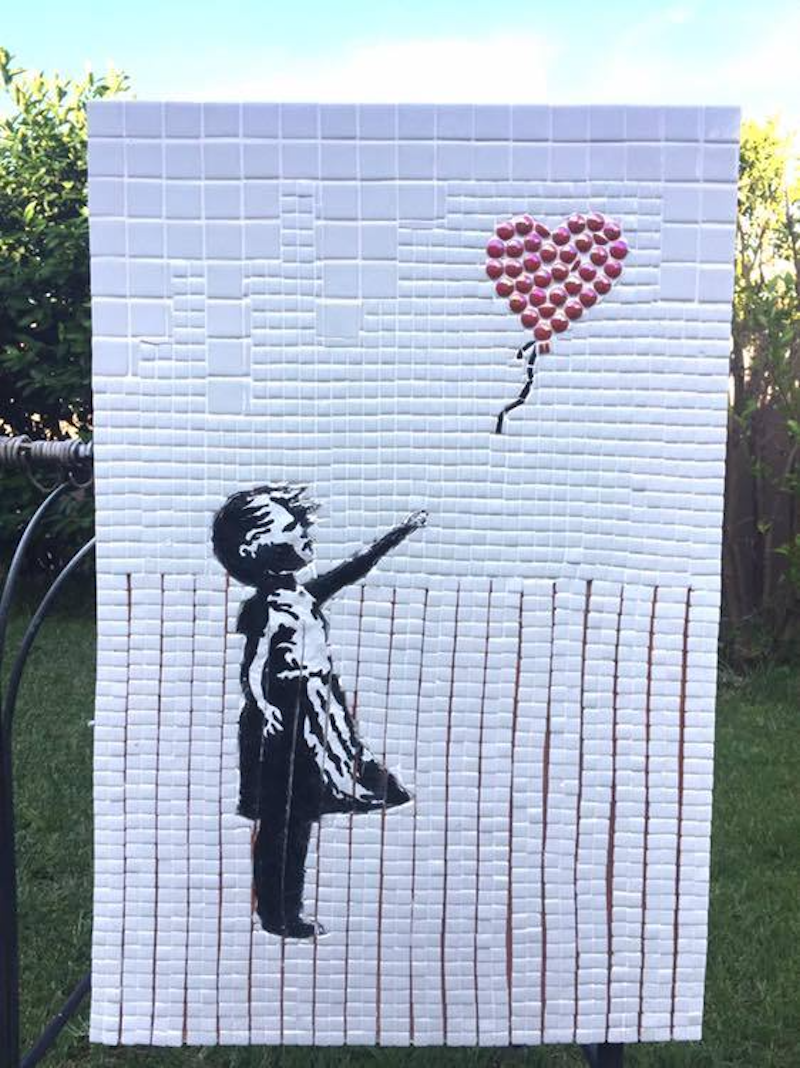 (CreativeWork) Banksy's girl  by Imad Muraywed. other-media. Shop online at Bluethumb.