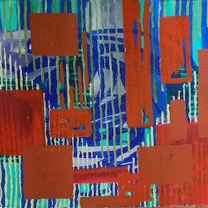 (CreativeWork) Looking through by Rosalie Rigby. arcylic-painting. Shop online at Bluethumb.
